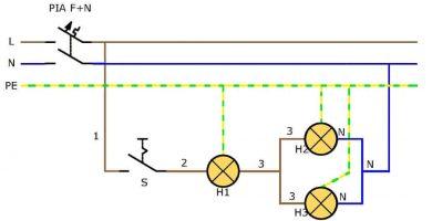 esquema electrico multifilar