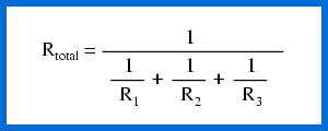 ecuacion de resistencia en circuitos paralelos