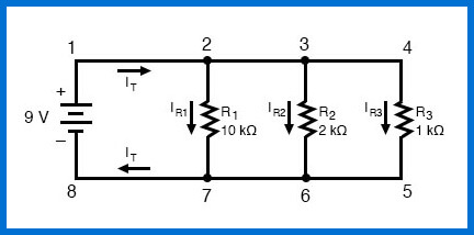 esquema de circuito paralelo simple