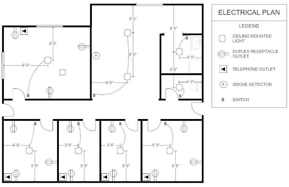 plano electrico oficina