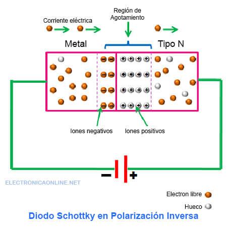 polarizacion inversa diodo schottky
